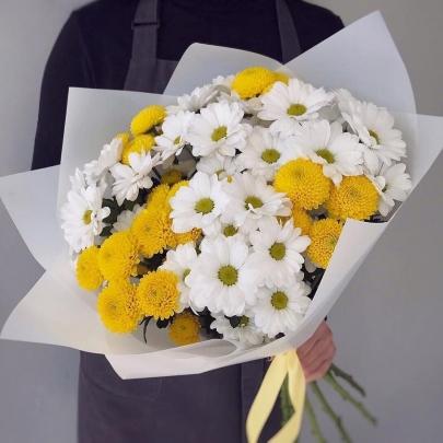 7 Кустовых Хризантем Микс фото