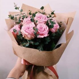 7 Роз Aqua (50/60 см.) фото
