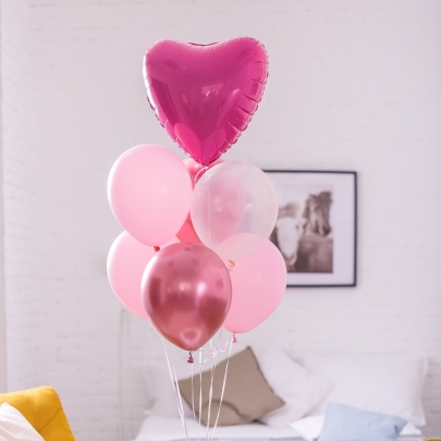 7 Розовых Воздушных Шаров фото