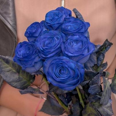 7 Синих Роз Premium (70/80 см.) фото