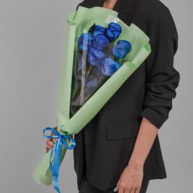 7 Синих Роз (70 см.) фото