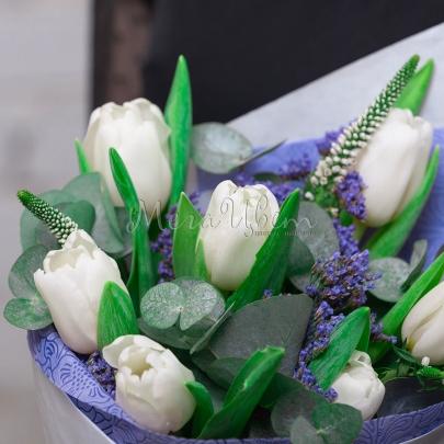 7 Тюльпанов белых фото