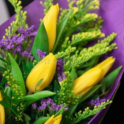 7 Тюльпанов желтых фото