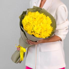 7 Желтых Кустовых Хризантем фото