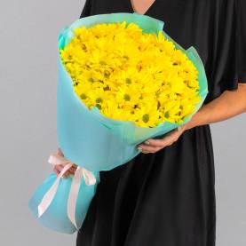 7 Желтых Кустовых Хризантем Ромашка фото