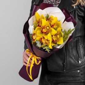 7 Желтых Орхидей фото
