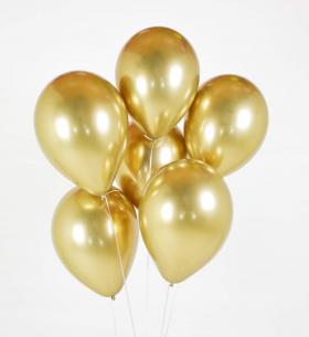 7 Золотых Воздушных Шаров