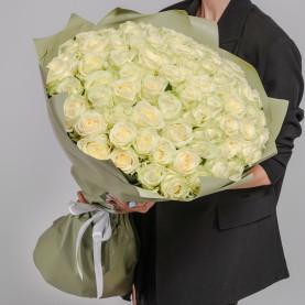 75 Белых Роз (60 см.) фото