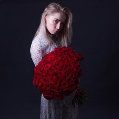 75 Красных Роз Premium (60 см.) фото