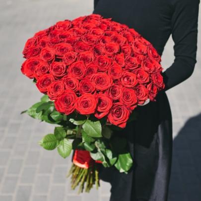 75 Красных Роз (70 см.)
