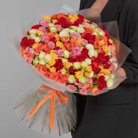 75 Кустовых Роз Микс (50 см.) фото