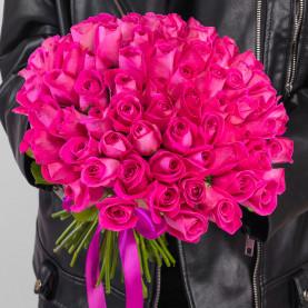 75 Розовых Роз (30-40 см.) фото
