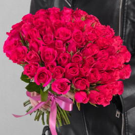 75 Малиновых Роз фото