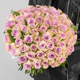 75 Сиреневых Роз (30-40 см.) фото