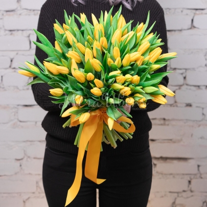 75 Тюльпанов желтых фото