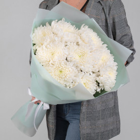 9 Белый Хризантем Бигуди фото