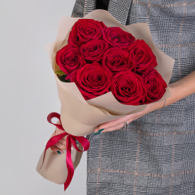 9 Красных Роз (50 см.) фото