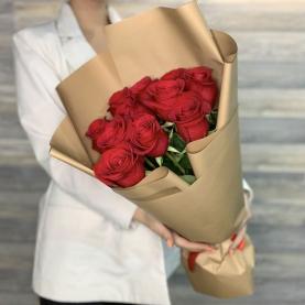 9 Красных Роз Эквадор (50/60 см.) фото