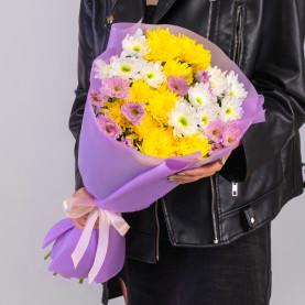 9 Кустовых Хризантем Микс фото