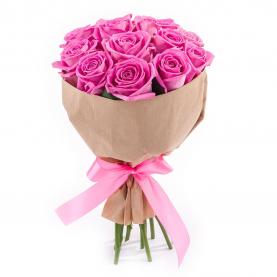 9 Роз Aqua (50/60 см.) фото
