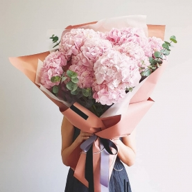9 Розовых Гортензий фото