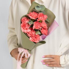 9 Розовых Гвоздик фото