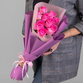 9 Розовых Роз (50 см.) фото