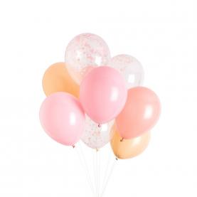 9 Розовых Воздушных Шаров фото