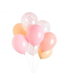 9 Розовых Воздушных Шаров