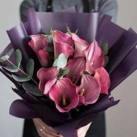 9 Розовых Калл фото