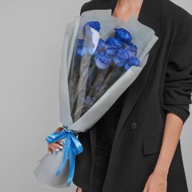 9 Синих Роз (70 см.) фото