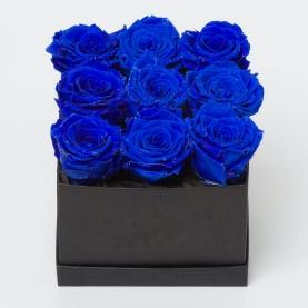 9 Синих Роз в коробке фото
