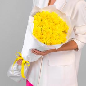 9 Желтых Кустовых Хризантем фото