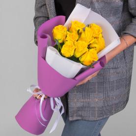 9 Желтых Роз (50 см.) фото