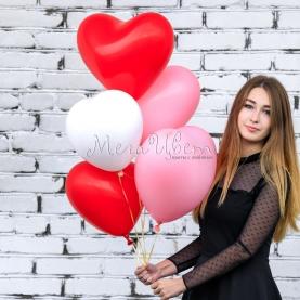 5 воздушных шаров Сердце фото