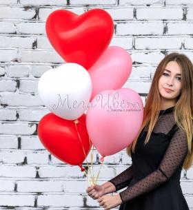 """5 воздушных шаров """"Сердце"""""""