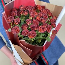 7 Шоколадных Роз Кустовых (50/60 см.) фото