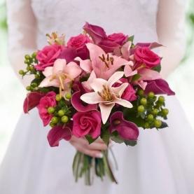 """Букет невесты """"Розовая Лилия"""" фото"""