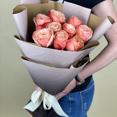 9 Роз Кахала (50/60 см.) фото