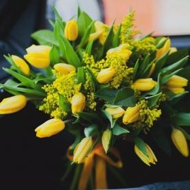 Букет Из Тюльпанов И Мимозы фото