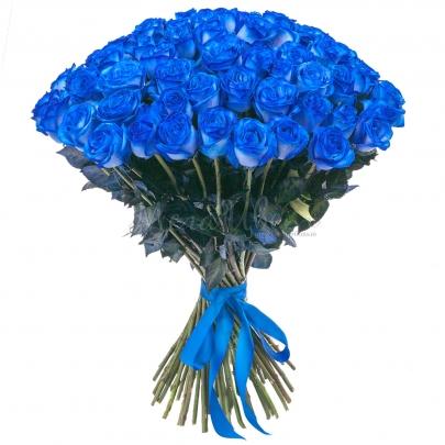 75 Синих Роз Premium (70/80 см.) фото