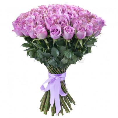 75 Сиреневых Роз (40/50 см.) Роз фото