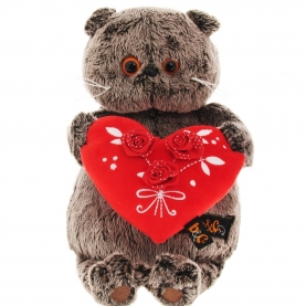 Мягкая игрушка Басик с красным сердечком (22 см.) фото