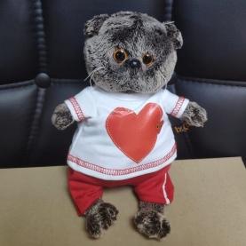 Мягкая игрушка Басик: В футболке с сердцем (19 см.) фото