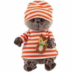 Мягкая игрушка Басик в полосатой футболке (25 см.) фото