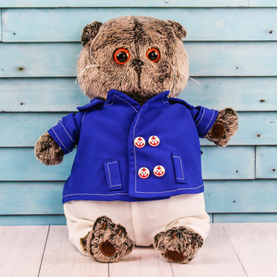 Мягкая игрушка Басик в синем кителе (25 см.) фото
