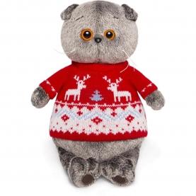 Мягкая игрушка Басик в свитере с оленями (25 см.) фото