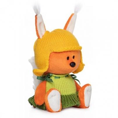 Мягкая игрушка Белка Бика в шапочке и платье (15 см.) фото