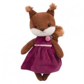 Мягкая игрушка Белочка Белль: В бархатном платье фото