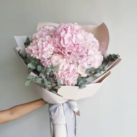 """Букет """"11 Розовых Гортензий"""" фото"""